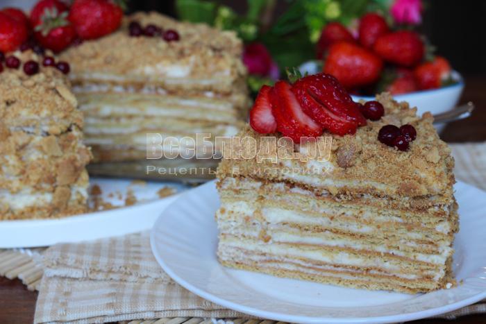 очень вкусный тортик Рыжик медовый