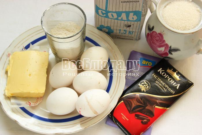 ингредиенты для шоколадных кексов