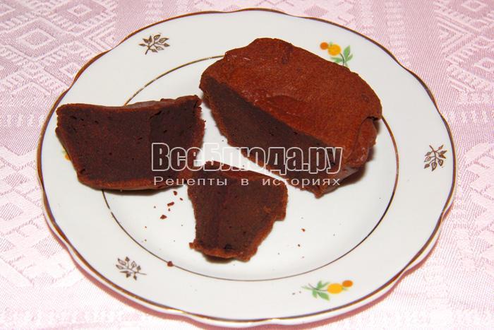 шоколадный кекс в разрезе