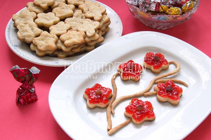Печенье на пиве - цветочки