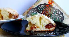 Рецепт пирога со сливами и яблоками