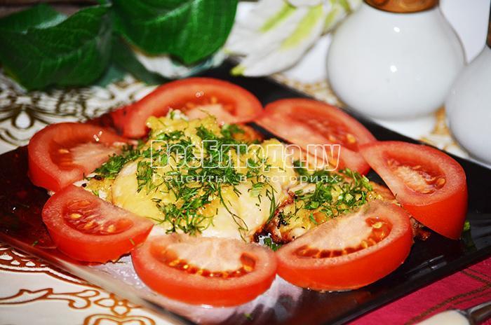Рецепт запеченного филе курицы с сыром и чесноком
