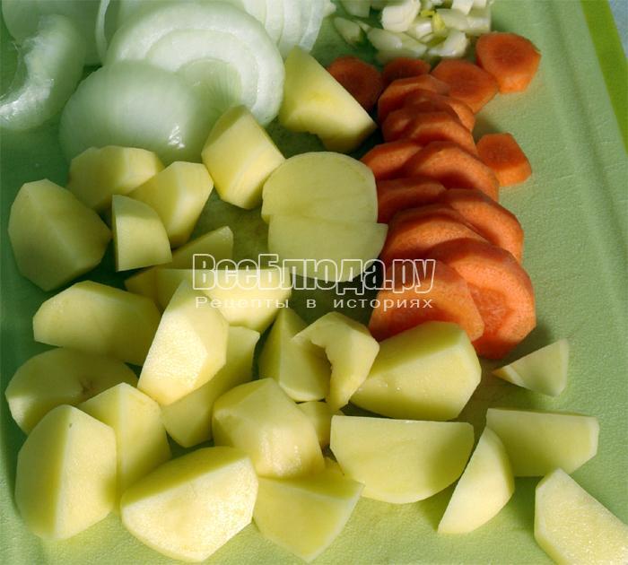почистить и порезать овощи