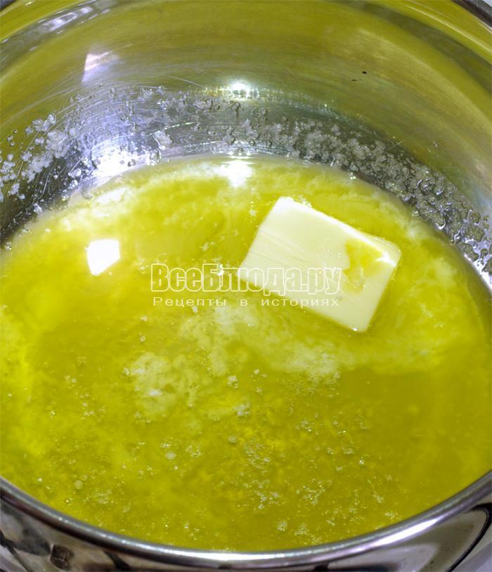Масло в кастрюльке