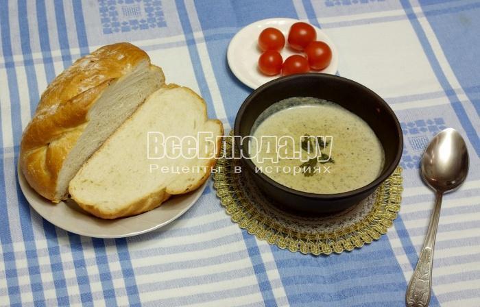 Готовый грибной крем-суп