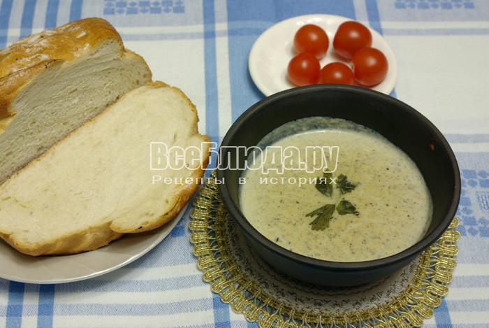 Рецепт крем супа из шампиньонов
