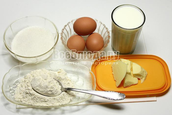 продукты для заварного крема