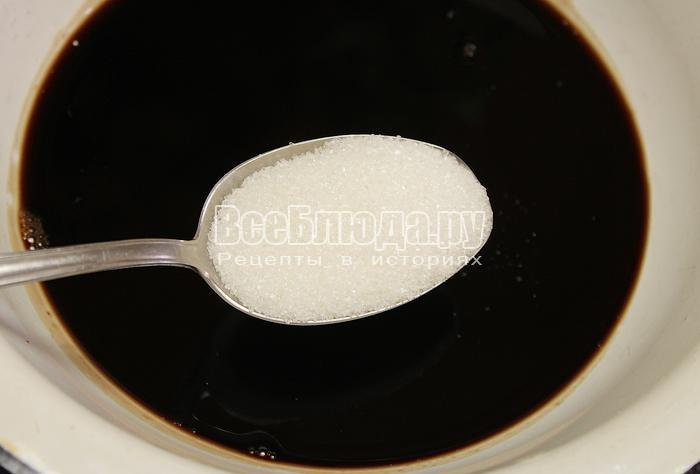 Добавили сахар в сироп