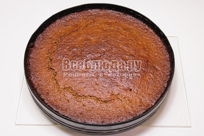 готовый постный пирог с вареньем