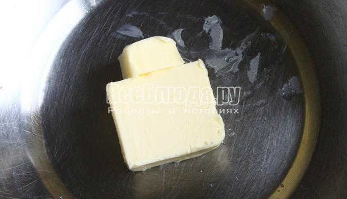положить в тепло сливочное масло