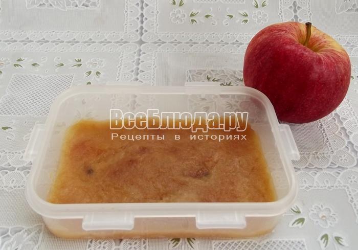 поставить яблочную массу в духовку