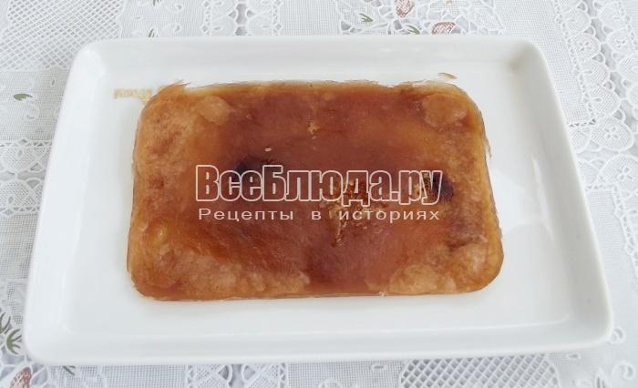 просушить яблочный мармелад