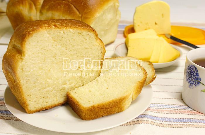 Готовый хлеб в разрезе