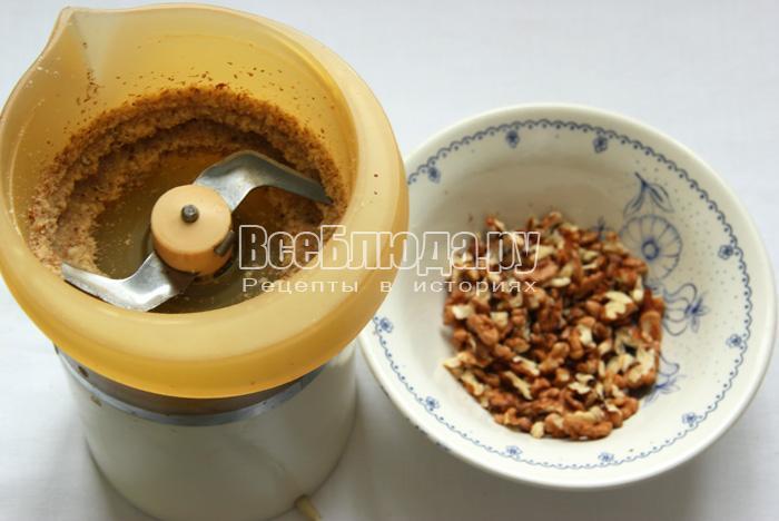 измельчить орехи в блендере