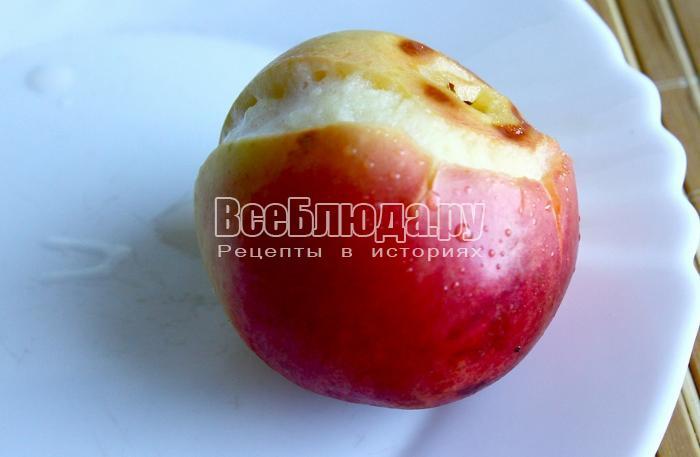 запечь яблоко в духовке
