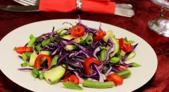 Салат Тиффани из капусты и свежих овощей, рецепт без майонеза