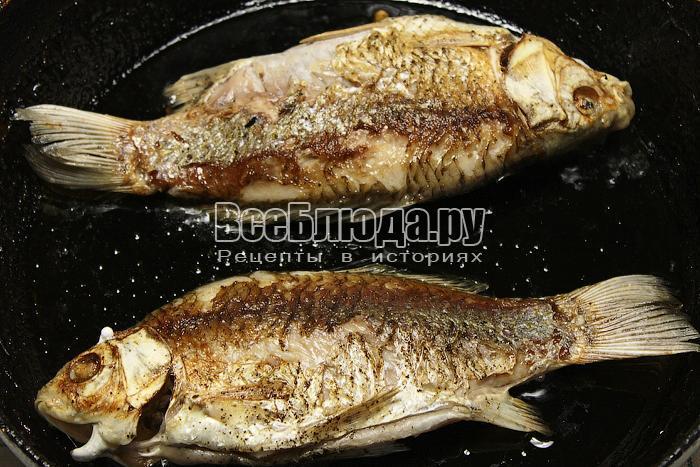 Обжарили рыбу