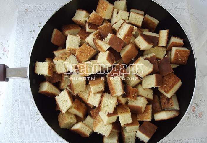 готовые бисквитные квадратики
