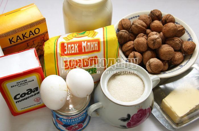 ингредиенты для торта Пинчер