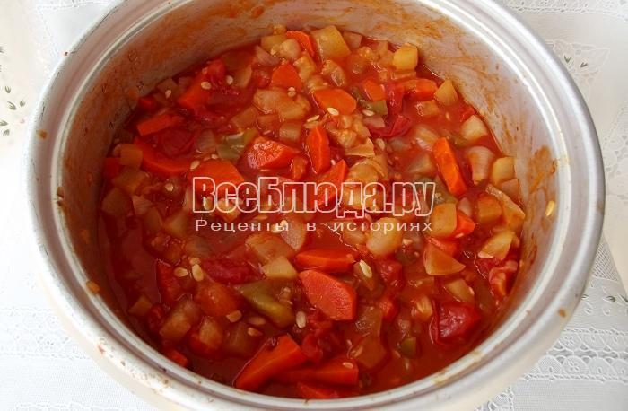 готовые тушеные овощи
