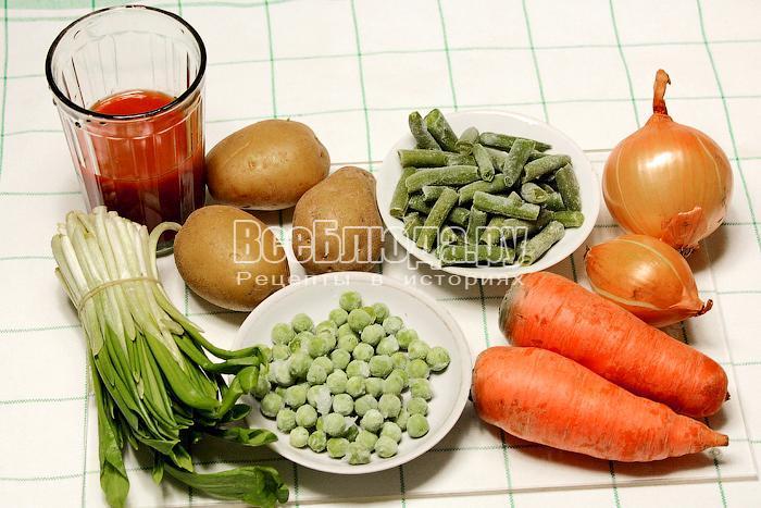ингредиенты для рагу с черемшой