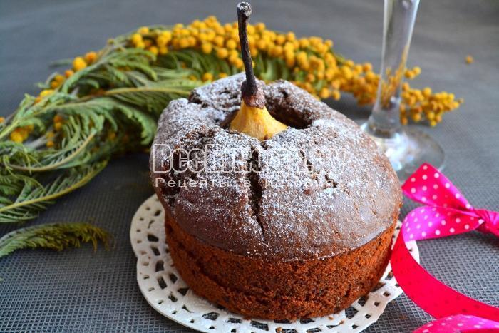 Кексы Груша в шоколаде - выпекаем в духовке в формочках