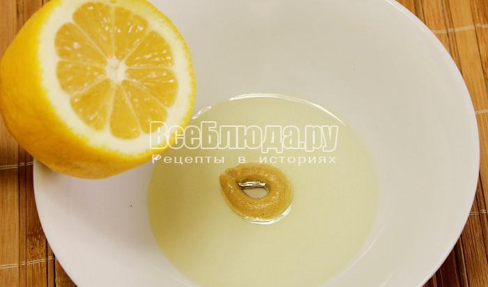 сделать соус с лимоном и маслом
