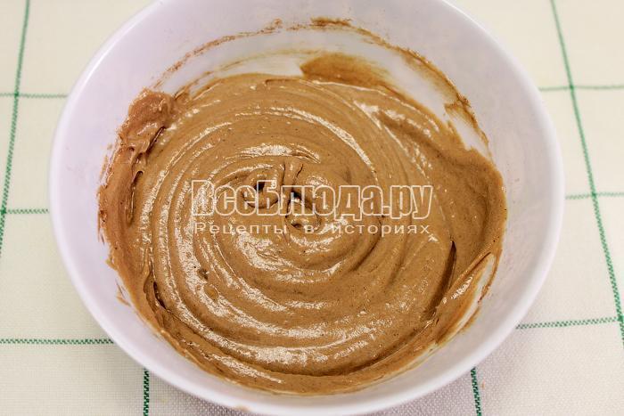 В одну часть теста добавили какао-порошок
