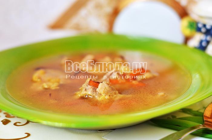 Рецепт горохового супа с мясом
