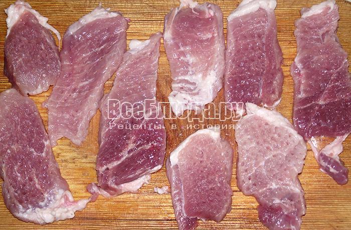 отбейте мясо с двух сторон