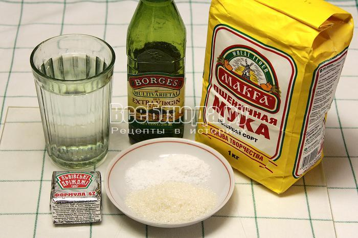 ингредиенты для выпечки булочек