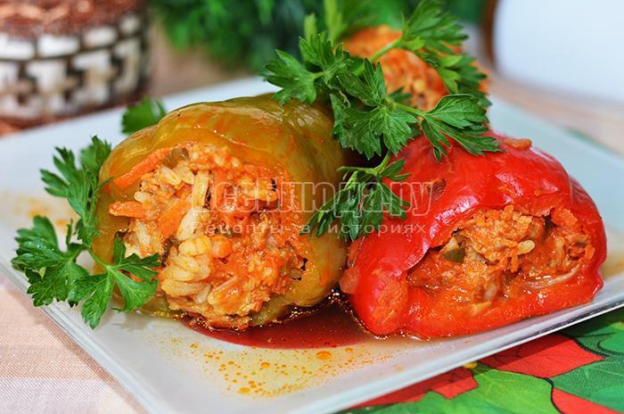 рецепт приготовления фаршированных перцев с фото
