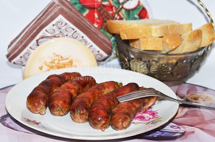 Домашние колбаски из нутрии