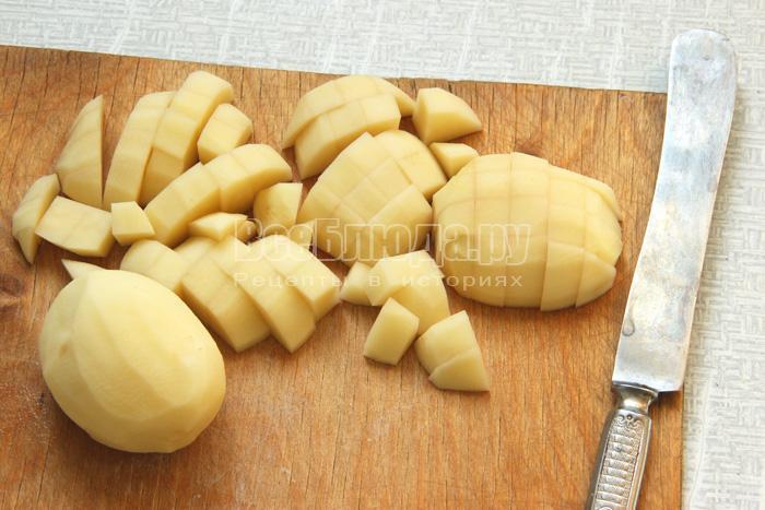 режу картофель