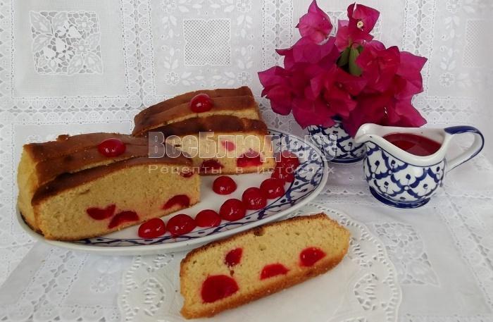 рецепт кекса с вишней