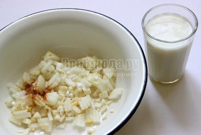 Кефаль в молочном соусе