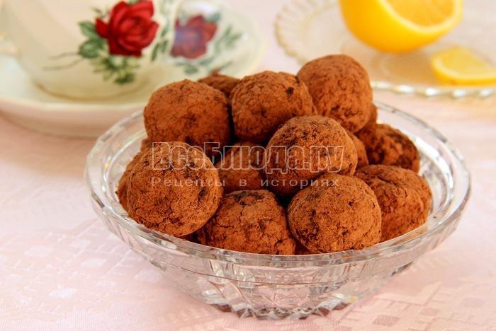 Домашние шоколадные конфеты (орехи, апельсины, мед, какао)