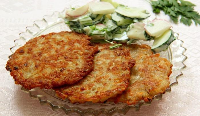 Рецепт драников из картошки с индюшиным фаршем