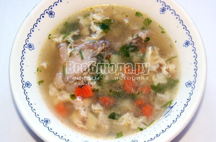 разлить суп из гречки по тарелкам