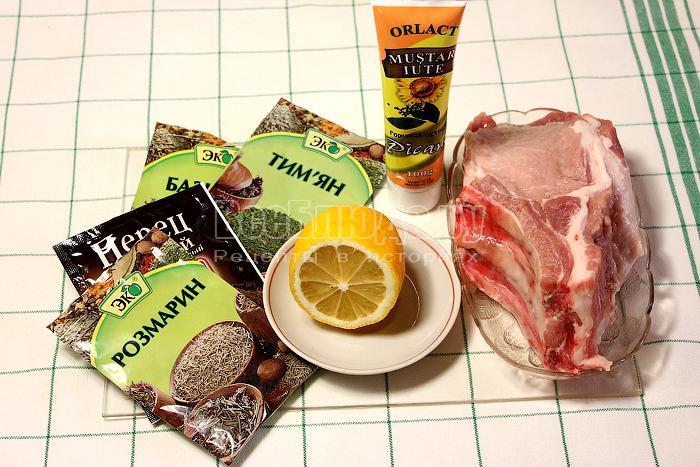 ингредиенты для мяса на косточке