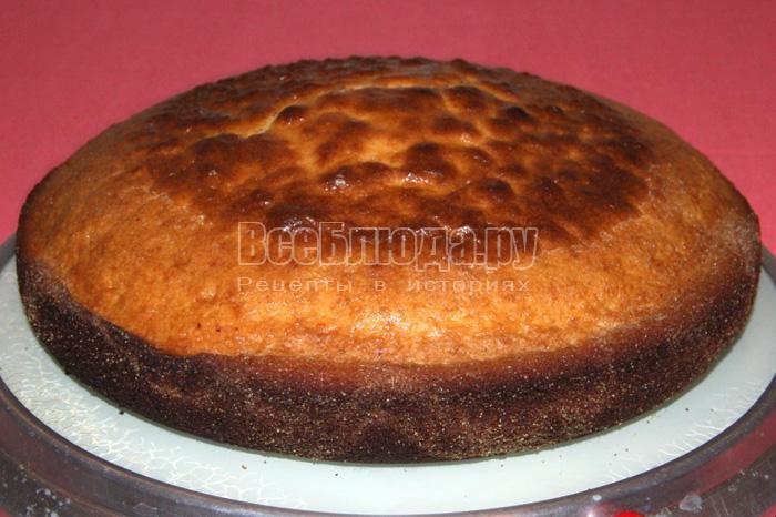 испекшийся торт