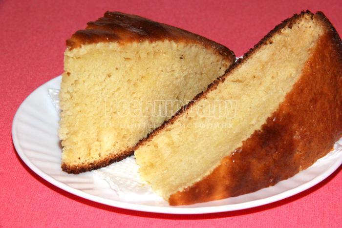 кусочек торта по легкому рецепту