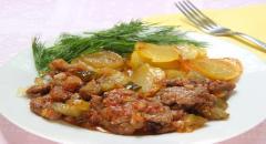 Рецепт азу по-татарски из телятины