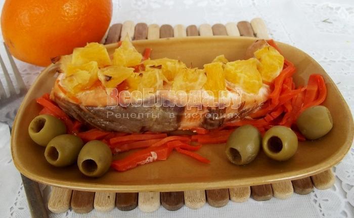 рецепт семги с апельсинами
