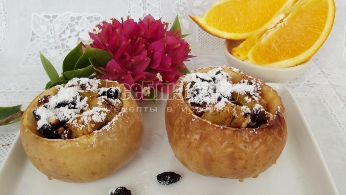 рецепт запеченных яблок с медом