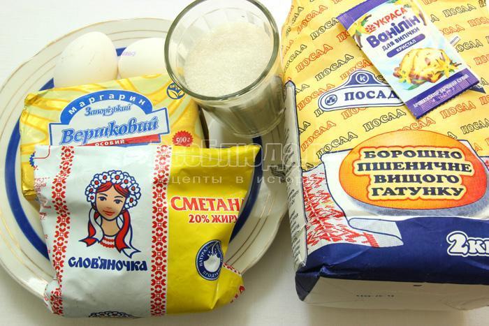 продукты для приготовления печенья в виде фигурок
