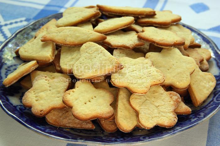 вкусное фигурное печенье для детей