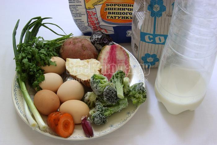 продукты для овощного омлета