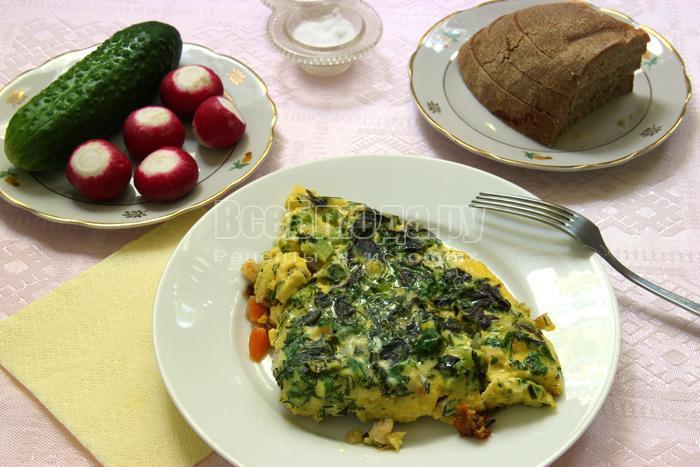 как приготовить вкусный омлет с овощами