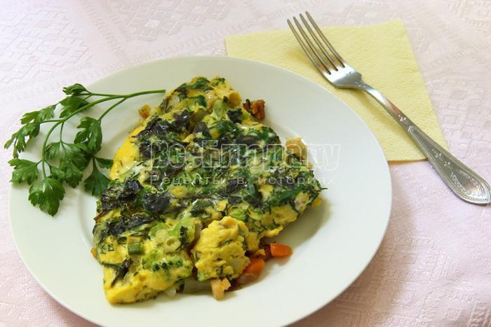 омлет с овощами - рецепт с фото